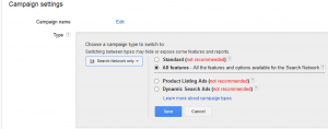 Search Network on Adwords