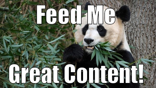 Google's Panda SEO loves Great Content