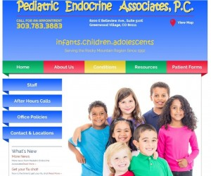 Pediatric Endocrine Associates website after