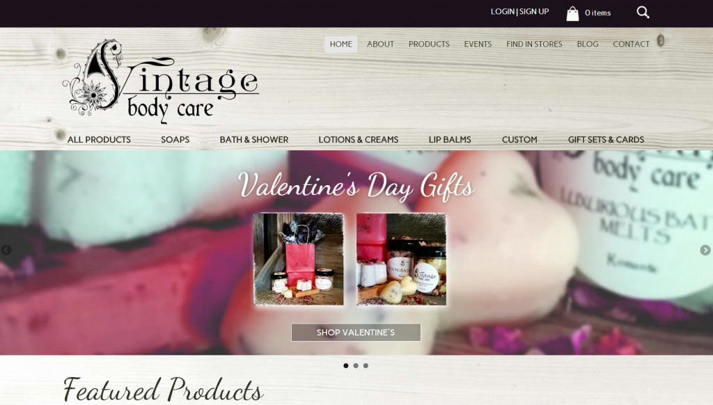 Vintage Body Care After - website design, responsive, visual, ecommerce