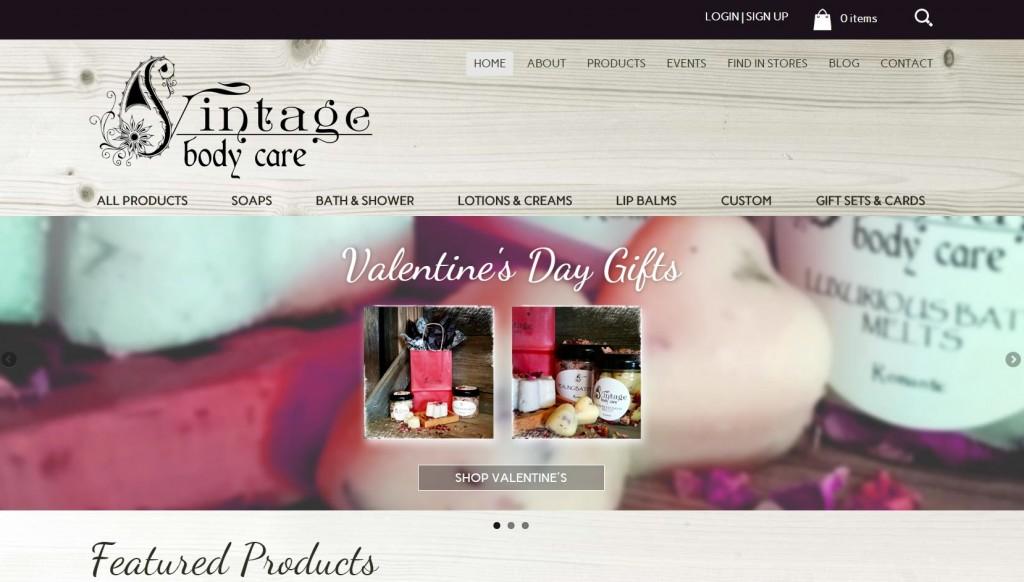 Vintage Body Care After - website design, responsive, visual, ecommerce